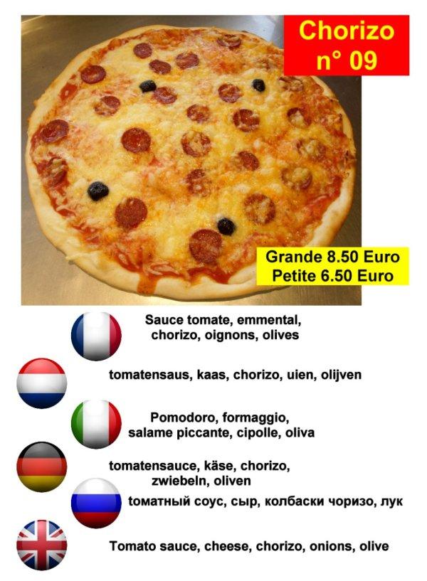 pizza chorizo à serre-chevalier